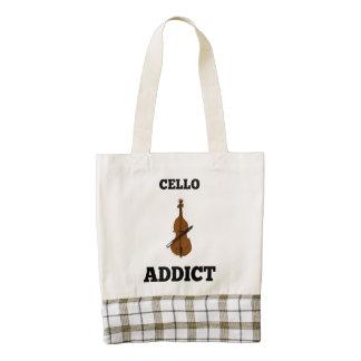 Adicto al violoncelo bolsa tote zazzle HEART