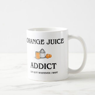 Adicto al zumo de naranja taza clásica