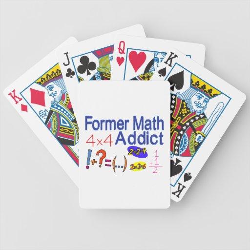 Adicto anterior a la matemáticas baraja de cartas