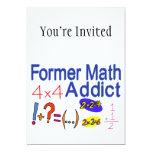 Adicto anterior a la matemáticas invitación 12,7 x 17,8 cm