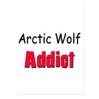Adicto ártico al lobo tarjetas postales