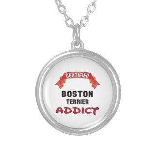 Adicto certificado a Boston Terrier Colgante Redondo