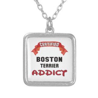 Adicto certificado a Boston Terrier Colgante Cuadrado