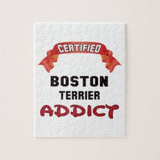 Adicto certificado a Boston Terrier Rompecabeza Con Fotos