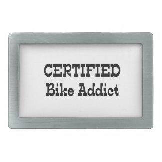 Adicto certificado a la bici hebilla cinturon rectangular