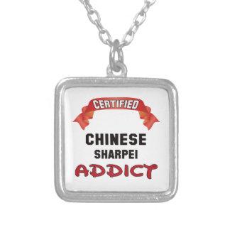 Adicto certificado a Shar-pei del chino Colgante Cuadrado