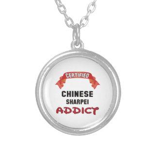Adicto certificado a Shar-pei del chino Colgante Redondo
