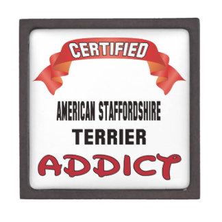 Adicto certificado a Staffordshire Terrier Caja De Recuerdo De Calidad