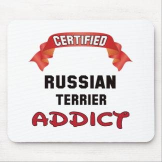 Adicto certificado a Terrier del ruso Tapete De Ratón