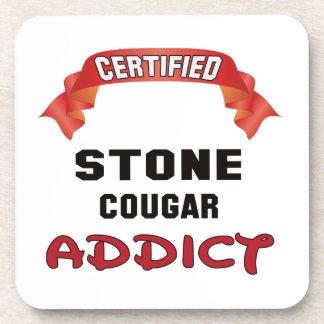 Adicto de piedra certificado al puma posavasos