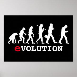 Adicto divertido a Smartphone de la evolución Póster