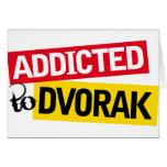 Adicto divertido al regalo de la música de Dvorak Tarjetón