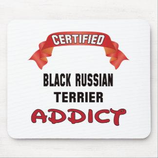 Adicto negro certificado a Terrier del ruso Tapete De Raton