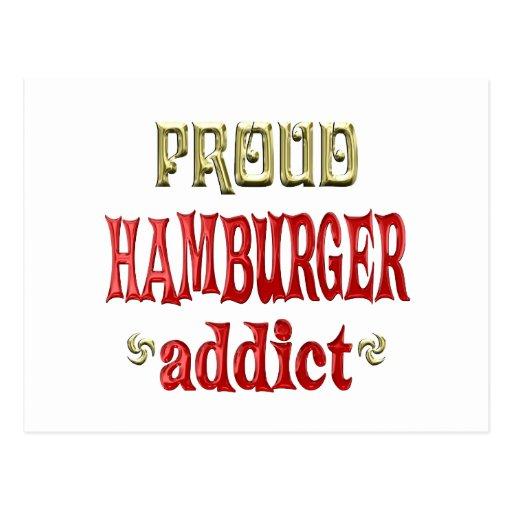 Adicto orgulloso a la hamburguesa postal