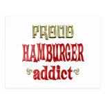 Adicto orgulloso a la hamburguesa tarjetas postales