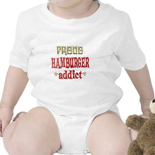 Adicto orgulloso a la hamburguesa trajes de bebé