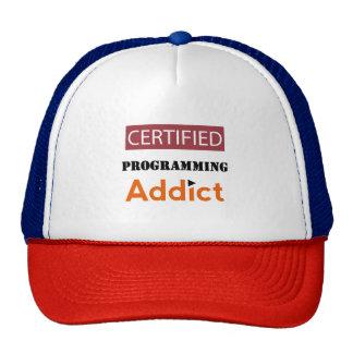 Adicto programado certificado gorros bordados