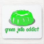 Adicto verde a Jello Alfombrilla De Raton