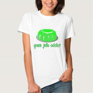 Adicto verde a Jello Camisas