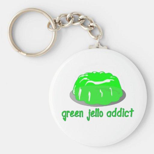 Adicto verde a Jello Llaveros Personalizados