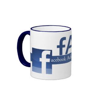 Adictos a Facebook anónimos Taza De Dos Colores