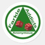 Adictos a Farkle anónimos Pegatina Redonda
