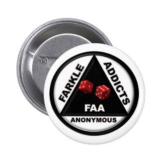 Adictos a Farkle anónimos (versión 2010) Pin Redondo 5 Cm