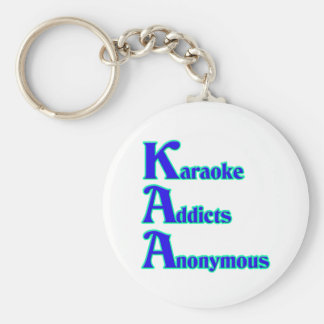 Adictos al Karaoke anónimos Llavero Redondo Tipo Pin