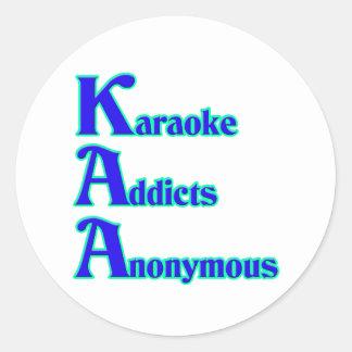 Adictos al Karaoke anónimos Pegatina Redonda