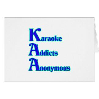 Adictos al Karaoke anónimos Tarjeta De Felicitación