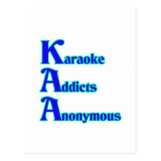 Adictos al Karaoke anónimos Tarjeta Postal