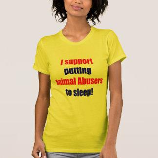 Adictos animales puestos para dormir camisas