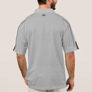 Adidas gris común grande de los hombres relampaga polo