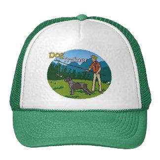 Adiestrador de perros del gorra (imagen oval + tex