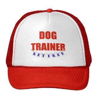 Adiestrador de perros jubilado gorros bordados