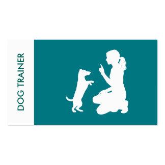 Adiestrador de perros profesional simple tarjetas de visita