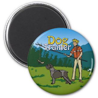 Adiestrador de perros redondo del imán (imagen + t