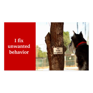 adiestrador de perros plantilla de tarjeta de negocio