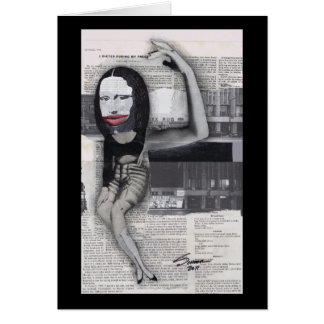 Adieté durante mi collage de Mona Lisa del embaraz Tarjeta De Felicitación