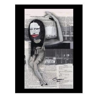 Adieté durante mi collage de Mona Lisa del embaraz Tarjeta Postal