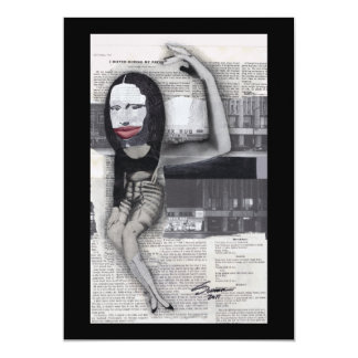 """Adieté durante mi collage de Mona Lisa del Invitación 5"""" X 7"""""""