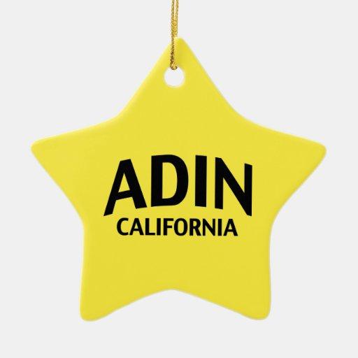 Adin California Adorno Navideño De Cerámica En Forma De Estrella