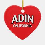 Adin California Ornamento Para Arbol De Navidad