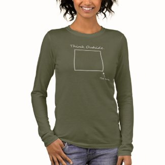 AdInk Says: Think outside the box! Long Sleeve T-Shirt