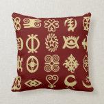 Adinkra , african symbols,Africa,wisdom Throw Pillows