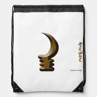 Adinkra - Akoben - Drawstring backpack