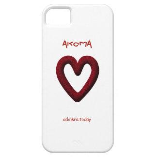Adinkra - Akoma - cubierta del teléfono Funda Para iPhone 5 Barely There