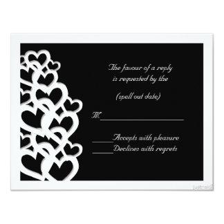 adinkra akoma (heart) i rsvp 4.25x5.5 paper invitation card