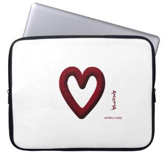 Adinkra - Akoma Laptop Sleeves