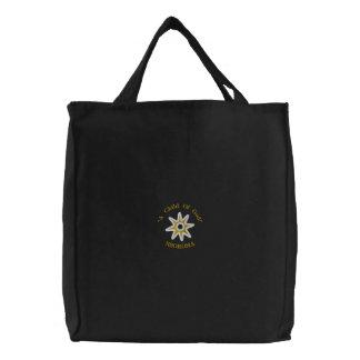 Adinkra Child of God Embroidered Tote Bag